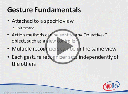 iOS Dev Using Objective-C, Part 3: Gestures Trailer