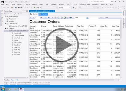 SSRS 2012, Part 02: Creating Reports