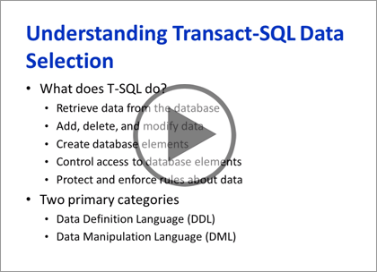 SQL Server 2012, Part 8: T-SQL Select, Where, and Clauses Trailer