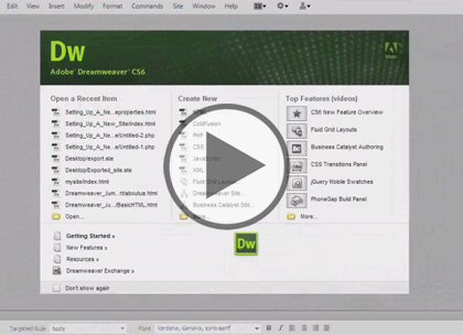 Dreamweaver CS6, Part 8: Mobile, Grid and Managing